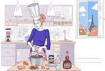 FLE: Nourriture / Cuisine, recettes, nutrition, restauration. / by La Frencherie - Mme Devine