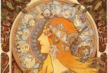 Mucha (Alphonse Mucha) / Art Nouveau / by Don Johnson