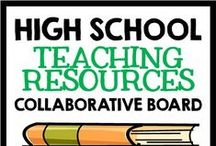 Collaborative Board: High School Resources / High School teaching ideas, lessons, and resources.  Pin as much as you like - just please try and make an effort to pin other pins from this board to your own boards :) / by Creative Classroom Core