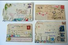 Creative: Snail Mail & Mail Art / I've always loved writing letters... and it's so much more fun to send and receive mail that's decorated somehow. Why send a boring white envelope? / by V B