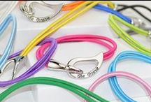 "Bracelets for Everyone / From our stunning Swarovski Crystal® Bracelets to our ""What Cancer Cannot Do"" bangles...you'll find a bracelet for everyone on your list! / by Choose Hope"