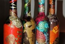 """""""BOTTLE GENIE """" / The art of recycling bottles and jars is a mystical magical tour of creativity.... / by Roslind Sherman"""