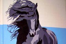 Art. paarde tekeningen / Paardetekeningen / by Peggy-Ann Blaeke