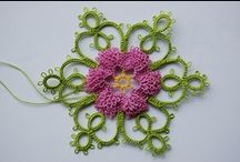 Criss cross crochet tatting  / Tatting is a kind of crochet with a thin needle / by natasja Koekoek