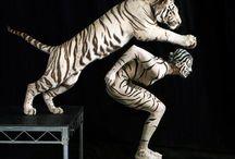 Elizabeth & The Tiger /  Labyrinthe....find the Queen,follow the Tiger, promenez-vous dans les bois et embrassez qui vous voulez! / by La Recouze
