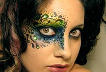Fantasy Makeup: rhinestones / Ideas for upcoming Rhinestones 101 class: