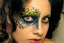 Fantasy Makeup: rhinestones / Ideas for upcoming Rhinestones 101 class: http://www.facebook.com/FantasyMakeupByBritt / by Alina Vincent Photography