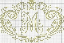 x-stitch: alphabets and monograms / Cross stitch / by Beth Brotherton