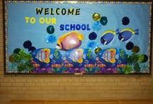 Bulletin Boards / Inspiration for Bulletin Boards for schools / by Ruth Greider