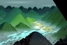 Backgrounds / Animation backgrounds / by Fran Johnston