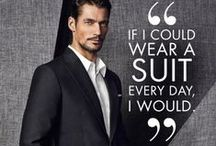 "Style - Distinguished Gentleman / ""A gentleman is never ""styled""; he exudes style, effortlessly. A gentleman dresses the appropriate way for the occasion and would be as elegant and stylish in jeans and a T-shirt as he would be in a suit."" ~~ David Gandy / by Lyoness Rose"