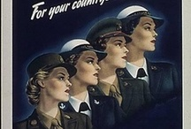 WWII Women in the Military / During WWII, 200,000 women served in the US military in the WAAC/WAC (Army), WAVES (Navy), Spars (Coast Guard), and Lady Marines. / by Sarah Sundin