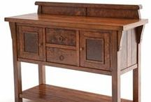 Rustic Solid Wood Furniture / This beautiful line of furniture is hand-crafted the old fashioned way using solid wood. No veneers! The artisans' finishing techniques give them an old world feel. At Woodland Creek we strive to create quality furniture meant to be passed down for generations. Custom Sizes Available / by Woodland Creek Furniture