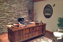 Unique Office Desks, Cabinetry & Furniture / Office desks, cabinets and furniture handcrafted from reclaimed wood, live edge slabs, or natural solid wood.  All designs are available in custom size and finishes. / by Woodland Creek Furniture