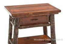 Hickory Log Furniture / Handcrafted Log Furniture for Cabin, Lodge, Camp & Rustic Decors / by Woodland Creek Furniture