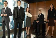 Suits - Harvey, Mike, Jessica, Rachel & Louis / by Pat Lee