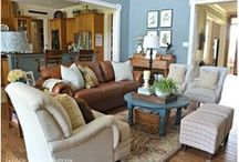 Home, I want, Home! / Decorating my formal living room, kid and animal friendly family room, kitchen, and bedrooms with an English Country flair. Ideas for a future media and/or game room are included. / by Michele Fithian