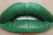 green lipcolours / by The Love of Colour