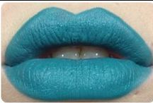 teal lipcolours / by The Love of Colour