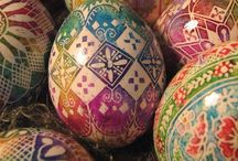Decorated Eggs / Faberge eggs , Easter eggs, Ukrainian eggs, all sort of decorated eggs...  / by René Flores
