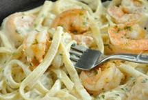 Shrimp Recipes with Pasta, Noodles & Such / The possibilities are endless when you twirl up shrimp and pasta specialites! / by Eat Shrimp