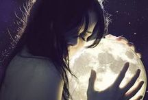 """""""I like the night life baby"""", she says.......=) / A beautiful creation. A summer night, glistening on the lake. Lighting the sky and casting cool blue shadows across a frozen winter landscape. A harvest moon. A giant sugar cookie moon. Once in a blue moon.... / by Michelle"""