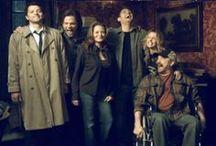 Assbutt, get me some pie! / The Winchesters, Castiel, Crowley, Lucifer, Salt and Pie / by Captn Jasbart