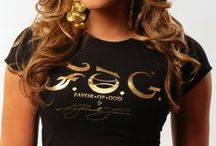 F.O.G. SIGNATURE Christian T-Shirt - Black  / Ladies look bold, beautiful and fearless in this royal signature F.O.G. FAVOR OF GOD Christian T-Shirt! This short sleeve tee features a crew neckline, printed signature F.O.G. gold foil logo at front. The scripture Isaiah 61:9 is written in gold foil on the  right sleeve as well. #FOG Christian T-Shirts # Christian T-Shirts #Christian T-Shirts for Women #Stylish Christian T-Shirts #FOGcollection / by F.O.G. FAVOR OF GOD