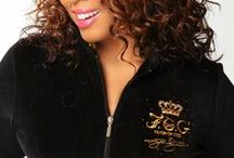 PLUS IZE F.O.G. LUXURY VELOUR TRACKSUIT - Royal Black  / Ladies, show the world that you Blessed and highly Favored in the NEW stylish F.O.G. Favor Of God Christian velour tracksuit! They are super cozy, warm and feel luxurious! Simply a Must-Have and designed to flatter a woman's beautiful curves with a true fit! Rock your faith in style and shine like a star in this F.O.G. Royal Black velour tracksuit! / by F.O.G. FAVOR OF GOD