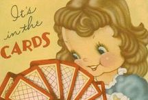 It's in the CARDS...girl & ladies / old cards / by Barb Burks
