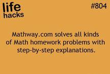 life hacks & etc / Hacks. I should try MathWay.com / by ∞Brinkley Gary∞