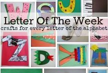 Literacy Centers / For a kindergarten classroom using benchmark education.  Practice of Letter Names and Letter Sounds DIBELS.   / by Carrie, Your Favorite Teacher