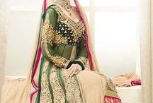 Bridal Lahenga Style Suit / by Deshi Besh