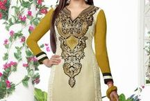 Pari By Zinat Long Style Salwar Suit / Fabric: Pure Georgette / by Deshi Besh