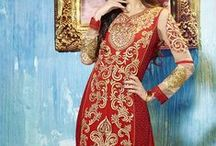 Malaika Arora Khan Salwar Suits / Fabric: Pure Shifly Georgette, Chiffon Dupatta  / by Deshi Besh