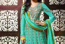 Shraddha Kapoor Anarkali Suit / Shraddha Kapoor Exclusive Floor Length Designer Anarkali Suit By Khwaab / by Deshi Besh