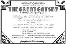 """The Great Gatsby Roaring 20's Spring Gala-Friday, 3/28/14 / Join us for our fourth annual Spring Gala: The Great Gatsby/Roaring Twenties, which will be held Friday, March 28, 2014 at The Pinnacle in Maumee. This elegant event will feature a seated dinner, music by Swingmania, emcee Dave Holmes of 13abc, silent auction, and many fun activities. Get your best """"Gatsby, Flapper, or Gangster"""" apparel ready! Black tie optional. The 2013 gala was a sold out event so be sure to reserve your seats or table early!  / by ALZ NWOhio"""
