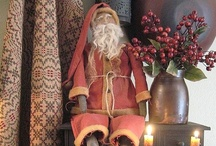 Primitive St. Nick & Friends / Here are some Prim Santas with a few not so prim countertparts / by YesterYear Primitives