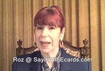 Allow Me to Make YOUR Life Easier / Hi I'm Roz Fruchtman.  It's important to me you know there is a real, caring person behind the Say It With eCards brand.  YOU and YOUR eCard recipients are my main concern. I look forward to getting to know you & hope these videos are a good introduction. ~Roz / by Say It With eCards Judaic Greetings - Jewish