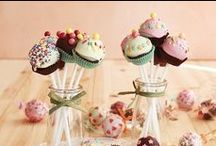 """Cake pops / """"You can eat them!"""" """"Aren't they just plastic?"""" """"No, they're yummy cake pops,  who just look like they're not real."""" :) / by Lina Ra"""