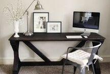 Bureau maison / Home desk / Mobilier, idées d'organisation et de décoration / Furniture, organization and decoration ideas / by FABIENNE DOVIN