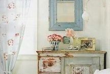 Romantic Prairie-Farmhouse Style  / Romantic Prairie, a decor that sits between farmhouse and shabby chic.  Not austere, not frilly...just right.  / by Lorian Rea