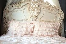 romantic country / ahhhhhh... If only... BUT my husband would refuse all this soft sweet prettiness./////  Have to keep the reins on my fairytale sweet side. / by Pamela W. Interiors
