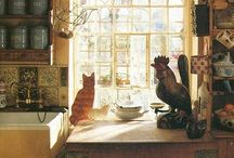 The Home  / Aspirations for a cosy lifestyle, including kitchen, laundry, bathrooms. I do not add comments, just enjoy collecting. / by maureen willetts
