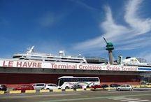 """Le Terminal Croisière du Havre / Situé Pointe de Floride, le Terminal Croisière, ouvert chaque jour d'escale, propose un accueil chaleureux et une gamme complète de services à destination des passagers et des membres d'équipage des paquebots en escale au Havre. Le Terminal est également parfaitement équipé pour recevoir les """"têtes de ligne"""" c'est à dire embarquer à bord d'un paquebot depuis Le Havre (comptoirs d'enregistrement, zone de stockage des bagages, scanners).  Le Havre, the gateway to Paris ! / by LeHavreTourisme"""