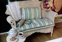 Dollhouse Furniture / Couches, chairs, tables, bookcases, ottomans, lamps,  / by Ann Johnston