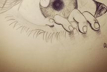 """Sketching / """"To draw, you must close your eyes and sing"""" ~Pablo Picasso  / by Carine C"""