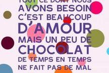 Choco Blanc-Noir-Caramel-Vanille-Café-Noisette-Praliné / by Nathalie De Juin