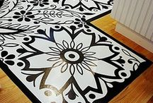 Crafts for a Unique Home - Painted Floors & Floor Cloths / by Sharon Burris