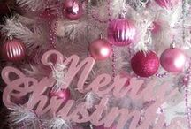 I am dreaming on a PINK Christmas / Pink is a version of RED which makes it TOTALLY acceptable to decorate for Christmas!!!  I have a PINK Christmas tree finally....  It is a lighter shade of PINK.  I am designing a Gingerbread/baking tree with a gloss pink (Martha Stuart Paint color Amaranth) as thecolor for the ornaments I am decorating/making!!!!!!  I will post pics soon!!!!! / by Helen Day